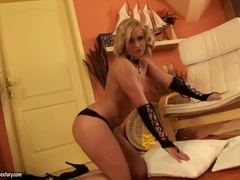 Beautiful Blonde Czech Republic Kathia Nobili Play With Her Pussy